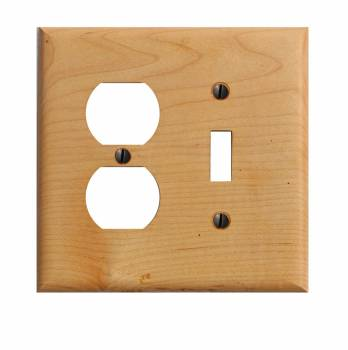 Switchplate Maple Hardwood Toggle Outlet 19679grid
