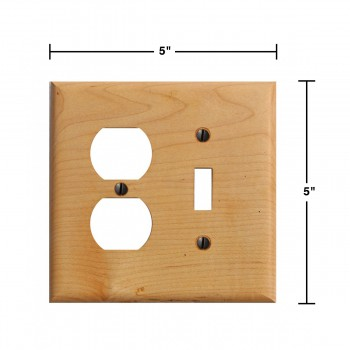 spec-<PRE>Switchplate Maple Hardwood Toggle Outlet </PRE>