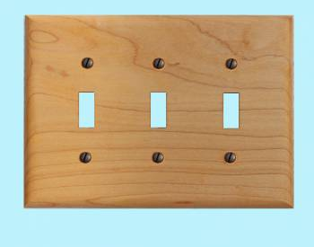 <PRE>Switchplate Maple Hardwood Triple Toggle </PRE>zoom2