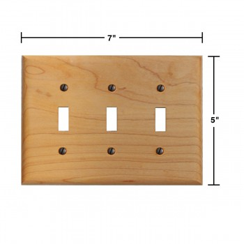 spec-<PRE>Switchplate Maple Hardwood Triple Toggle </PRE>