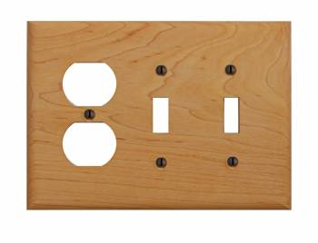 Switchplate Maple Hardwood Toggle Outlet 19681grid