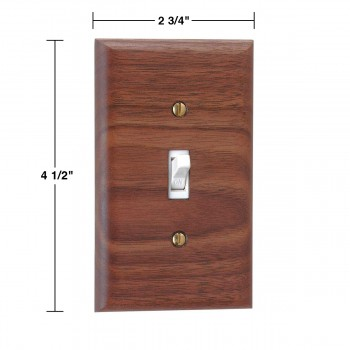 spec-<PRE>Switchplate Walnut Single Toggle </PRE>