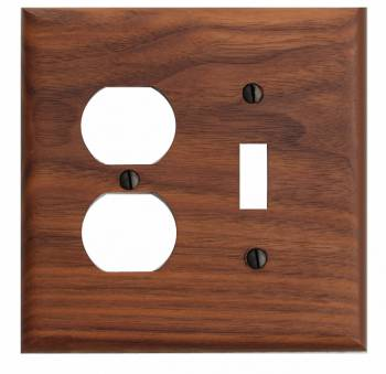 Switchplate Walnut Toggle/Outlet 19686grid