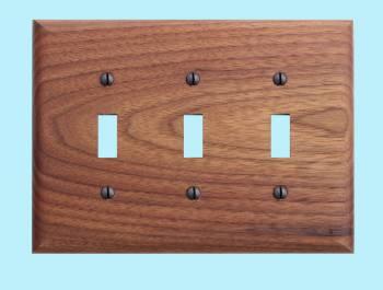 Switchplate Walnut Triple Toggle Switch Plate Wall Plates Switch Plates