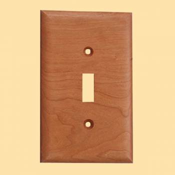 <PRE>Switchplate Cherry Hardwood SIngle Toggle/Dimmer </PRE>zoom2