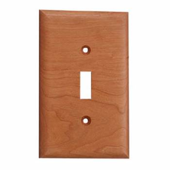 Cherry Hard wood Beveled Single Toggle or Dimmer Switch Plate