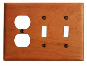 <PRE>Switch Wall Cover plate Cherry Double Toggle/Outlet </PRE>zoom1