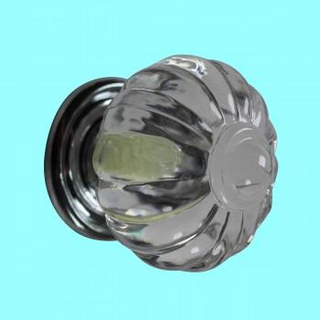 <PRE>Cabinet Knob Clear Acrylic 1 1/4'' Dia Chrome Backplate </PRE>zoom2
