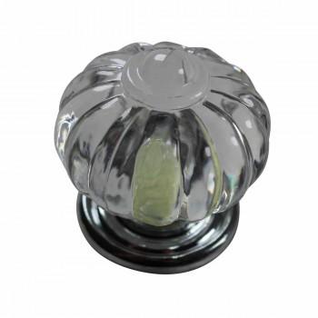 <PRE>Cabinet Knob Clear Acrylic 1 1/4'' Dia Chrome Backplate </PRE>zoom3