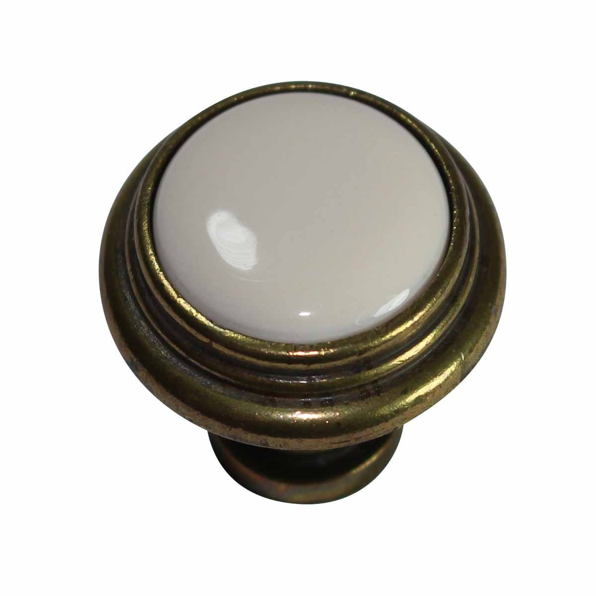 Cabinet Knobs Antique Solid Brass Almond 1.25D Decorative Antique Cabinet Knob Cabinet and Drawer Knobs Unique Dresser Knobs Cabinet Hardware