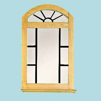Vanity Mirror Windowpane Arch Country Pine 39 H Mirrors Mirror Decorative Mirror