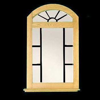 <PRE>Vanity Mirror Windowpane Arch Country Pine 39&quot; H </PRE>