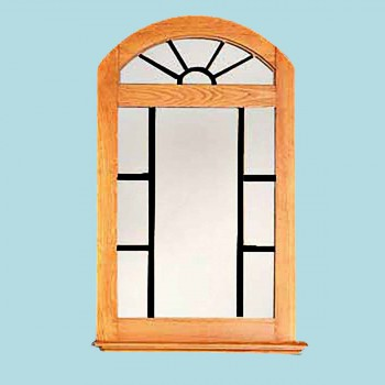 <PRE>Vanity Mirror Windowpane Arch Heirloom Pine 39inch H </PRE>zoom2
