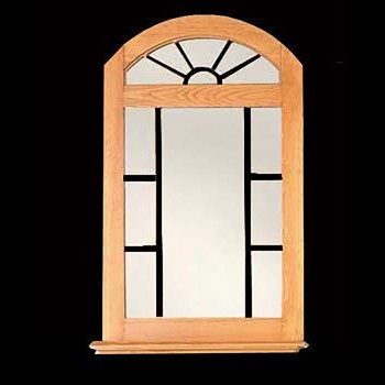 <PRE>Vanity Mirror Windowpane Arch Heirloom Pine 39inch H </PRE>zoom3