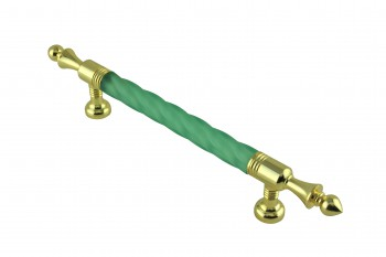 <PRE>Vintage Cabinet Pull Drawer Handle Green Acrylic Twisted </PRE>zoom1