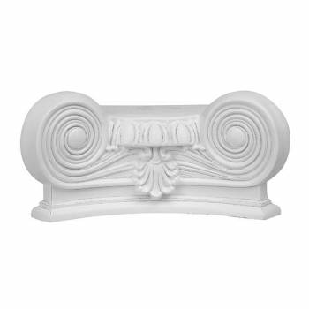 Column White Urethane Capital 180 Degree Half Round  19730grid