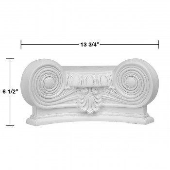 spec-<PRE>Column White Urethane Capital 180 Degree Half Round  </PRE>