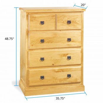 spec-<PRE>Dresser Unfinished Pine Stafford Four Drawer Chest Kit </PRE>