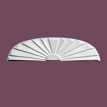 spec-<PRE>Roman Door Pediment White Urethane Insert </PRE>