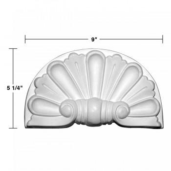 spec-<PRE>Roman Door Pediment White Urethane Insert </PRE>
