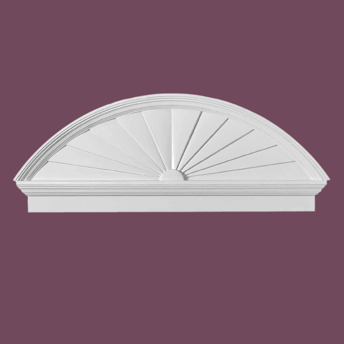 U003cPREu003eHalf Round Door Pediment White Urethane ...