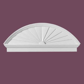 <PRE>Half Round Door Pediment White Urethane </PRE>zoom2