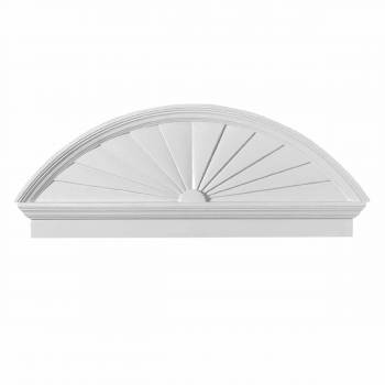 <PRE>Half Round Door Pediment White Urethane </PRE>zoom1