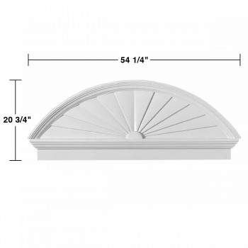 spec-<PRE>Half Round Door Pediment White Urethane </PRE>