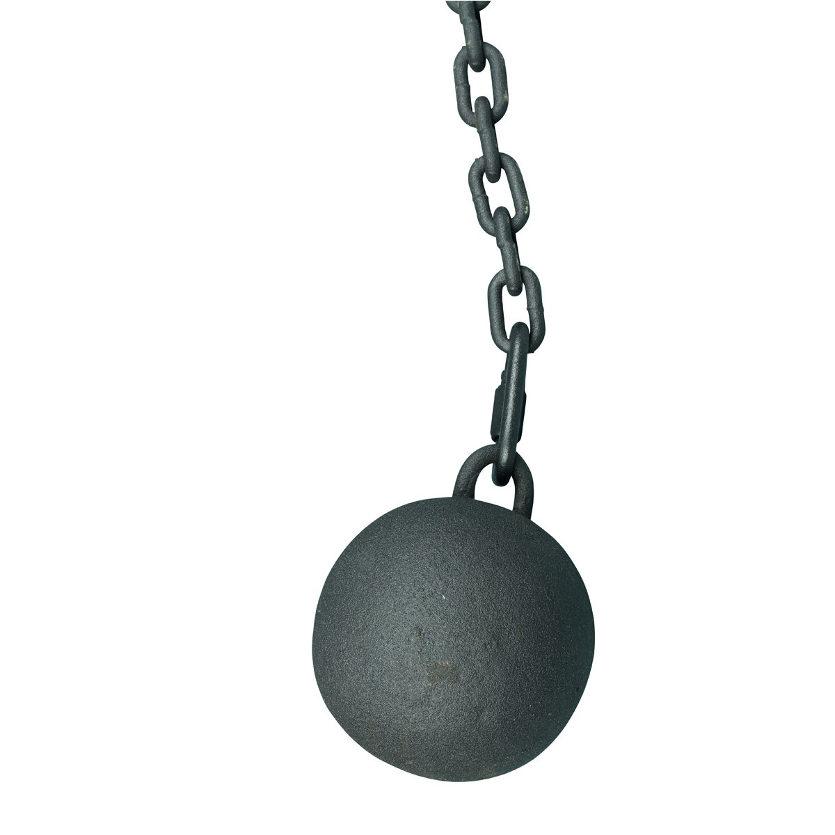 Gate Latch Cast Iron Cannonball and 5 Feet Chain