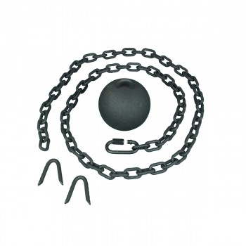 <PRE>Gate Latch Cast Iron Cannonball and 5 Feet Chain </PRE>zoom5