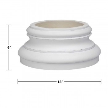 spec-<PRE>Column White Urethane Base 360 Degree </PRE>