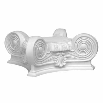 Column Capital Ionic Full 360 degrees 6-1/2