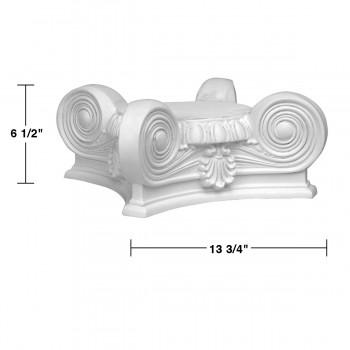 spec-<PRE>Roman Column Capital Full 360 Degree White Urethane </PRE>
