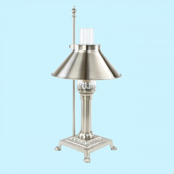 Table Lamps - Table Lamp Titanic Silvertone Lamp by the Renovator's Supply