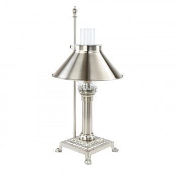 Table Lamp Silvertone Brass Lamp 20