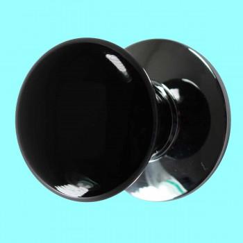 <PRE>Cabinet Knob Black Chrome 1 1/2inch Dia W/ Backplate </PRE>zoom2