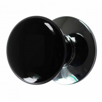 Cabinet Knob Black Chrome 1 1/2