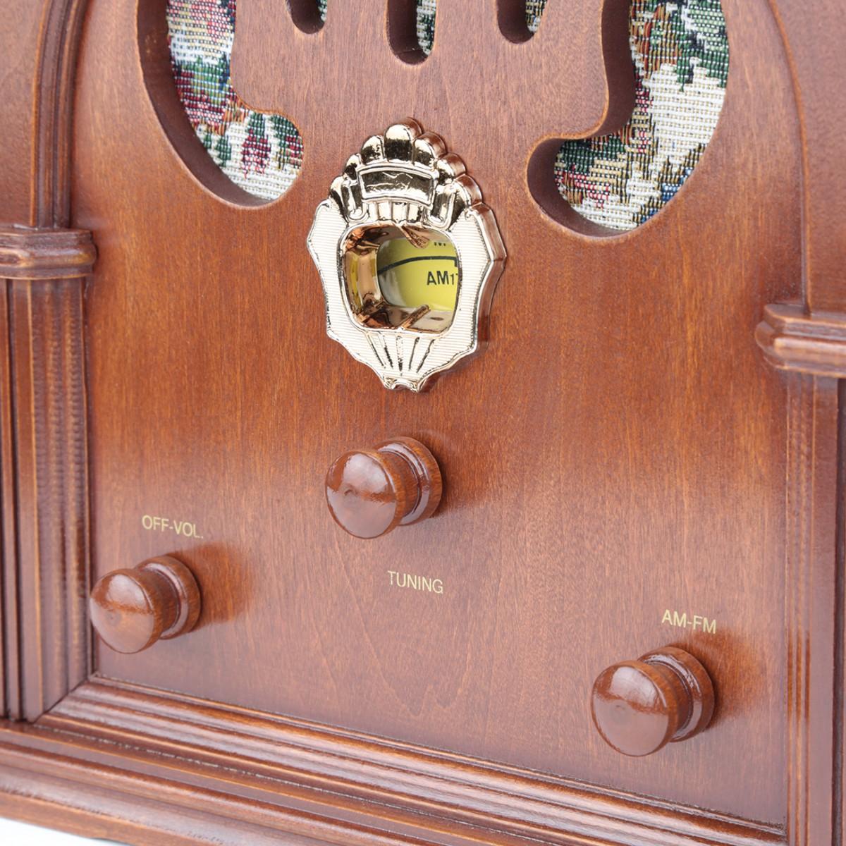 Radios Natural Oak Church Battery Operated 12.5H Cathedral Radio Old Fashioned Radio Cathedral Radios