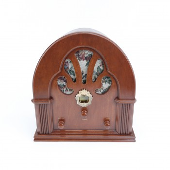<PRE>Radios Natural Oak Church Battery Operated 12.5inchH </PRE>zoom1