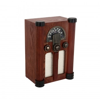 Radios Natural Oak Empire TapeRadio AC Operated 14H Decorative Radio Cassette Player Radio Wood Radio