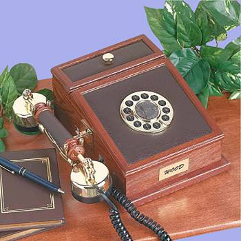Wood Telephone Oak Phone 10H x 7.5W x 4 38D Antique Telephones For Home Vintage Telephones Landline Telephones Land Line