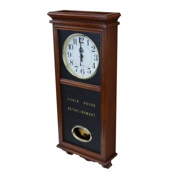 Clocks Wood Battery Operated Pendulum Clock 19808grid