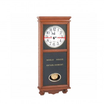 spec-<PRE>Clocks Wood Battery Operated Pendulum Clock </PRE>