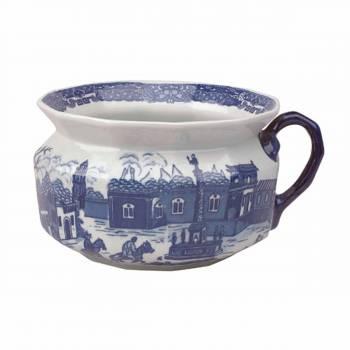 Chamber Pot WhiteBlue Delft Porcelain 55H