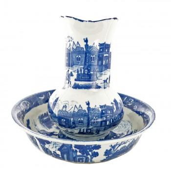<PRE>Chamber Pot Set Delft Blue Ceramic Chamber Pot and Pitcher </PRE>zoom3