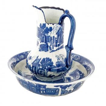 <PRE>Chamber Pot Set Delft Blue Ceramic Chamber Pot and Pitcher </PRE>zoom8