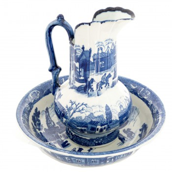 Chamber Pot Set Delft Blue Ceramic Chamber Pot and Pitcher 19810grid