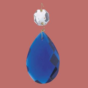 <PRE>Prisms Blue Glass Pendalogue 2 1/2inchH </PRE>zoom2