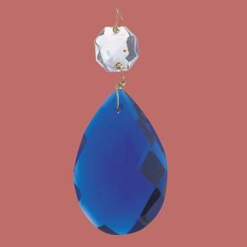 Prisms Blue Glass Pendalogue 2 12H Lamp Prism Glass Prisms Lamp Prisms