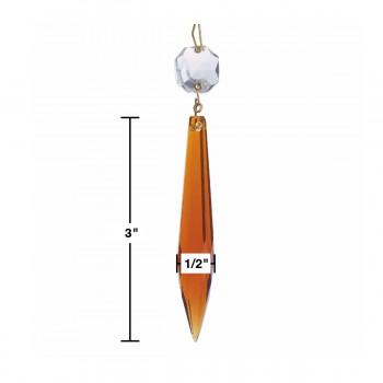 "spec-<PRE>Prisms Burnt Amber Glass 4""L </PRE>"